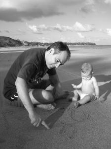 Antônio e Bento começando a escrever uma história em comum em Japaratinga, Alagos, dezembro de 2008